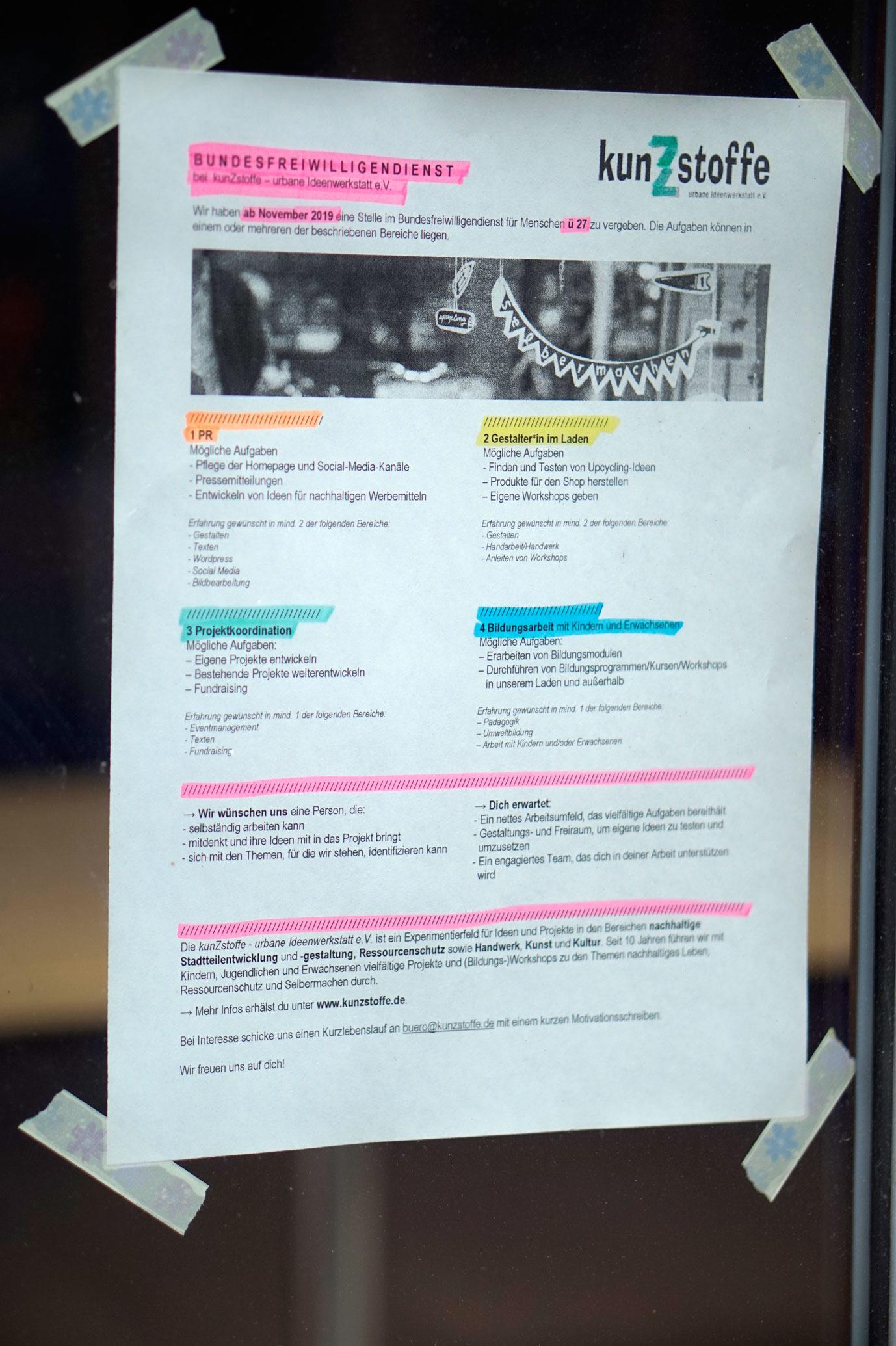 BUFDI bei kunZstoffe – urbane Ideenwerkstatt e.V.