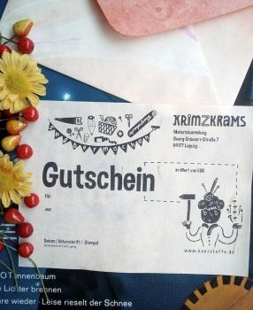 Neu: Gutscheine fürs krimZkrams