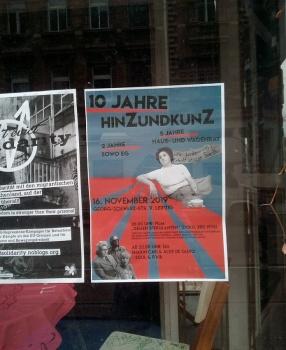 Double feature am Samstag: Werkschau der HuUpA! und 10-Jahre hinZundkunZ