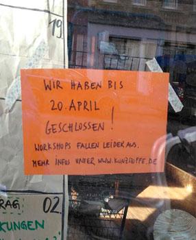 krimZkrams in Leipzig und Wurzen geschlossen bis 20.4.2020
