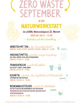 Zero Waste September in der NATURWERKSTATT im LADEN in Wurzen