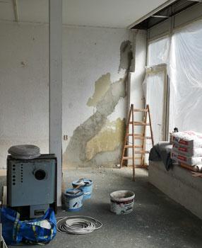 Viele Grüße von der Baustelle: Das krimZkrams Halle nimmt langsam Gestalt an.