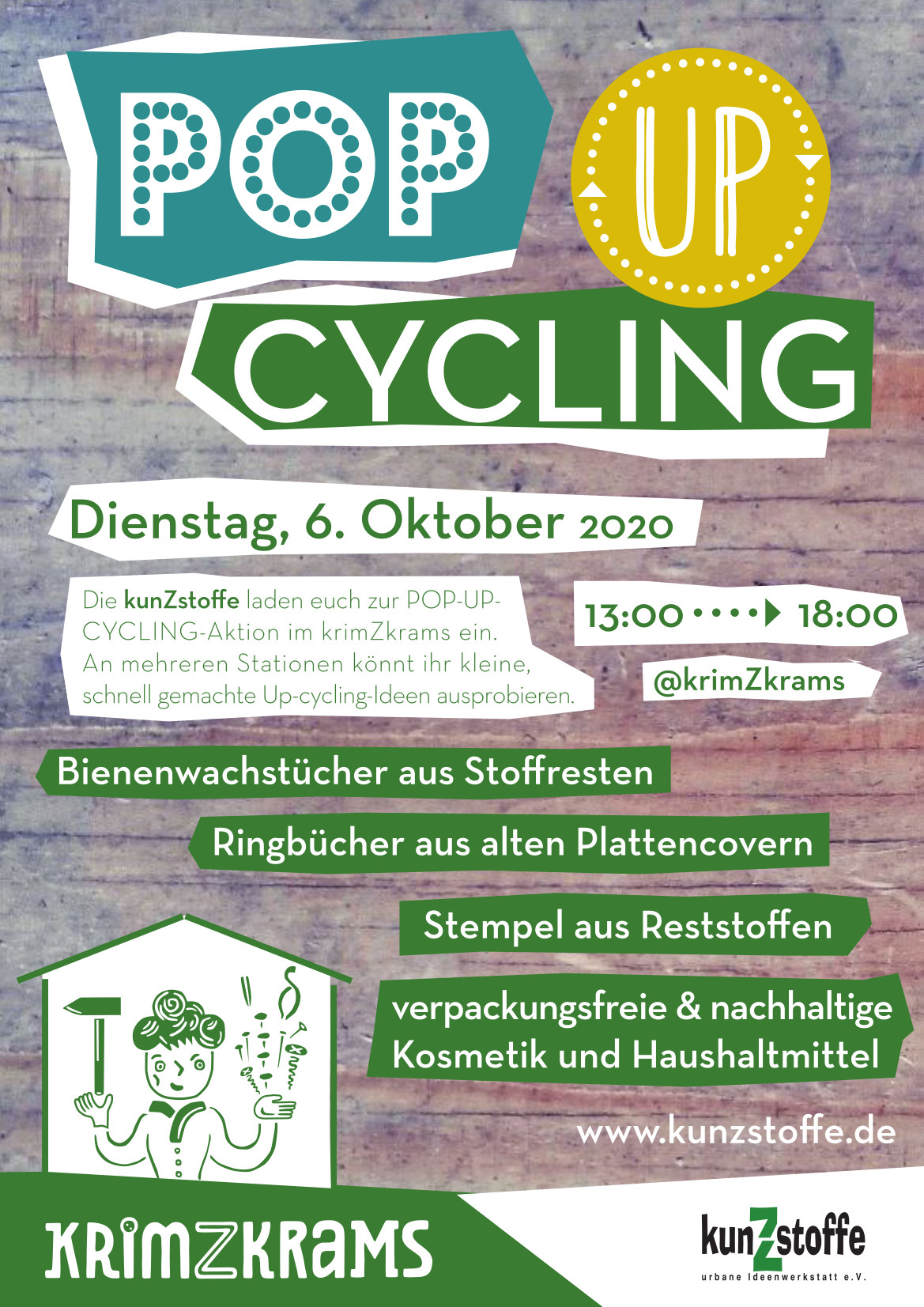 POP-UP-CYCLING im krimZkrams am 6.10.2020